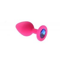 Анальная пробка Pink Silicone Sapphire M 280237